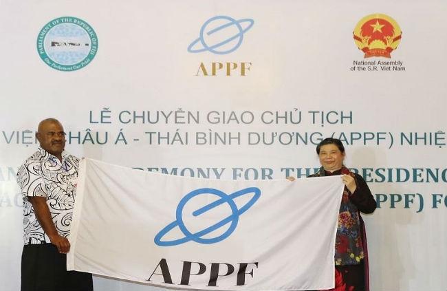 Quốc hội Việt Nam tiếp nhận chức Chủ tịch APPF