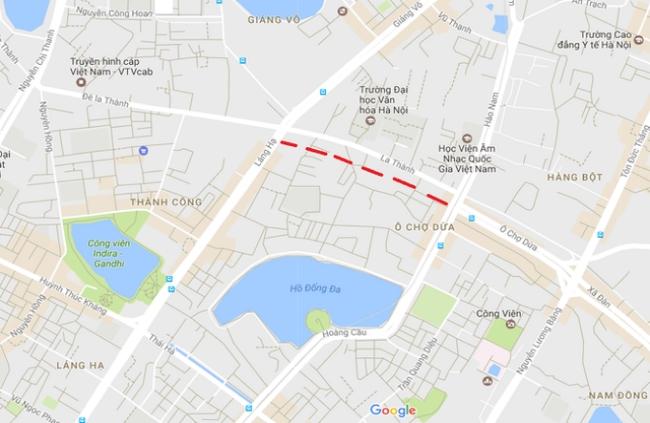 Sắp có đường mới rộng 50m song song với đường Đê La Thành