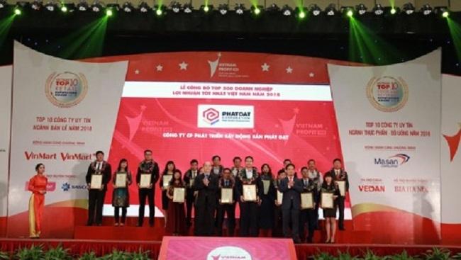Phát Đạt xếp thứ 62/500 doanh nghiệp có lợi nhuận tốt nhất Việt Nam 2018