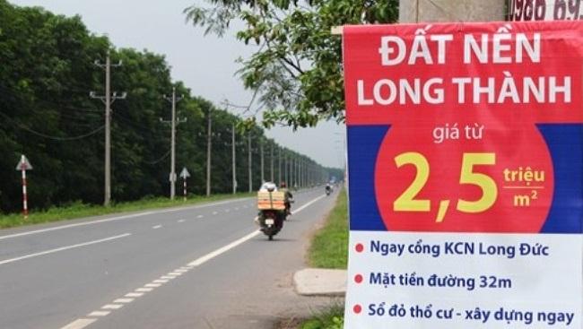 Cơn sốt đất nền ở Long Thành