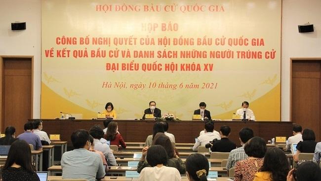 Danh sách 499 người trúng cử đại biểu Quốc hội khóa XV