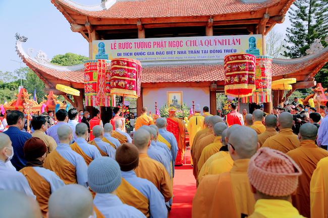 Lễ rước tượng Phật ngọc chùa Quỳnh Lâm 4