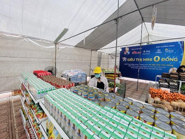 """Siêu thị mini 0 đồng Hà Nội – """"siêu thị của những tấm lòng"""" trong đại dịch 2"""