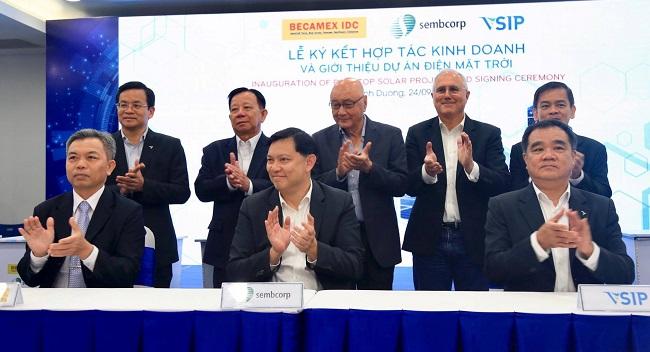 Vsip, Becamex và Sembcorp ra mắt giải pháp năng lượng bền vững