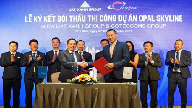 Tập đoàn Đất Xanh và Coteccons bắt tay xây dựng dự án Opal Skyline
