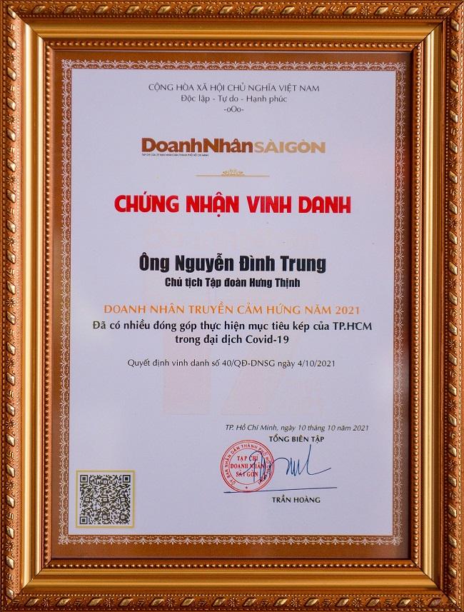 Chủ tịch Nguyễn Đình Trung: Doanh nhân truyền cảm hứng năm 2021 1