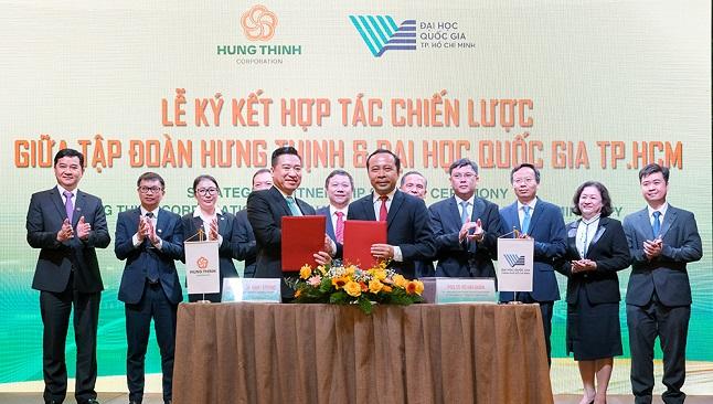 Tập đoàn Hưng Thịnh ký kết hợp tác chiến lược với Đại học Quốc gia TP. HCM