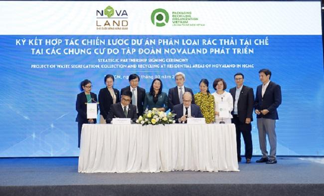 Novaland hợp tác với Pro Việt Nam thực hiện dự án phân loại rác thải tái chế