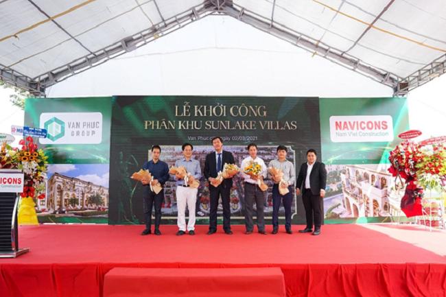 Khởi công xây dựng phân khu Sunlake Villas tại Van Phuc City 2