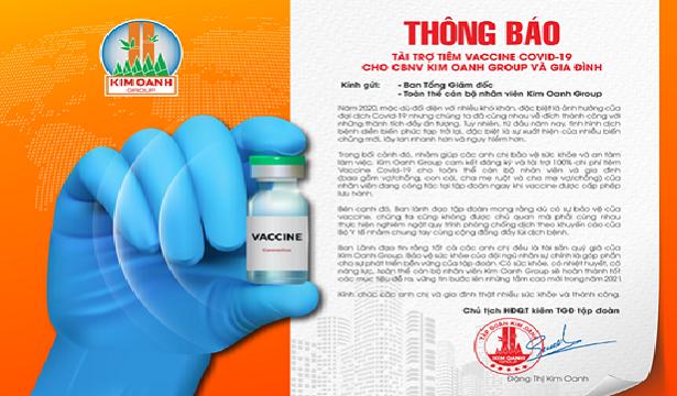 Kim Oanh Group tài trợ tiêm vắc xin Covid-19 cho cán bộ nhân viên toàn hệ thống và gia đình