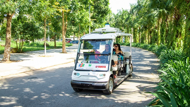 FPT thử nghiệm thành công xe điện tự lái trong khu đô thị Ecopark