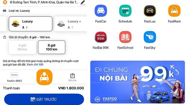 FastGo tung dịch vụ đưa đón sân bay và thuê xe theo giờ