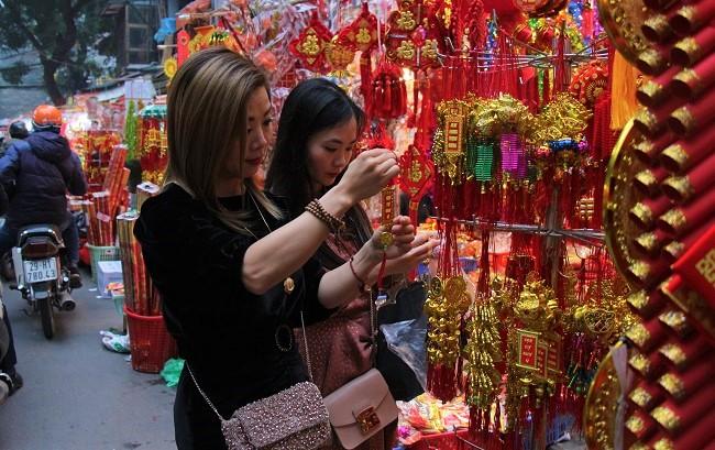 Chợ hoa phố cổ tưng bừng đón Tết Kỷ Hợi 11