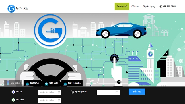 Ứng dụng gọi xe Go-Ixe thí điểm xe hợp đồng điện tử Go-car tại TP.HCM