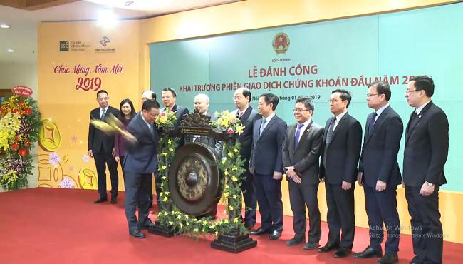 Chứng khoán Việt Nam khởi đầu tích cực trong phiên giao dịch đầu năm mới