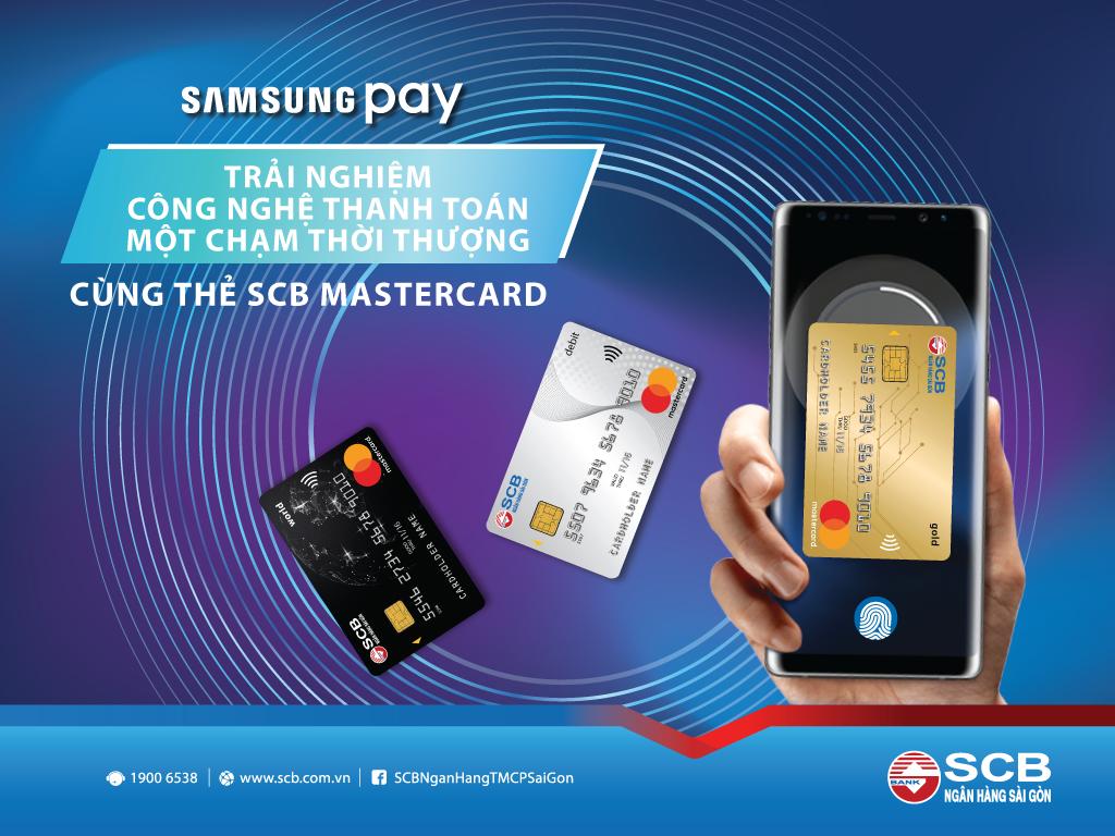 Ra mắt tính năng Samsung Pay cho thẻ quốc tế SCB Mastercard