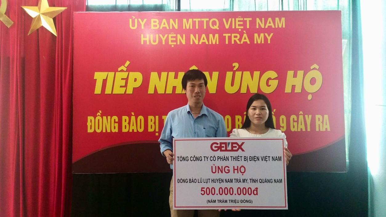 Gelex tiếp tục hỗ trợ người dân vùng lũ tại Quảng Nam