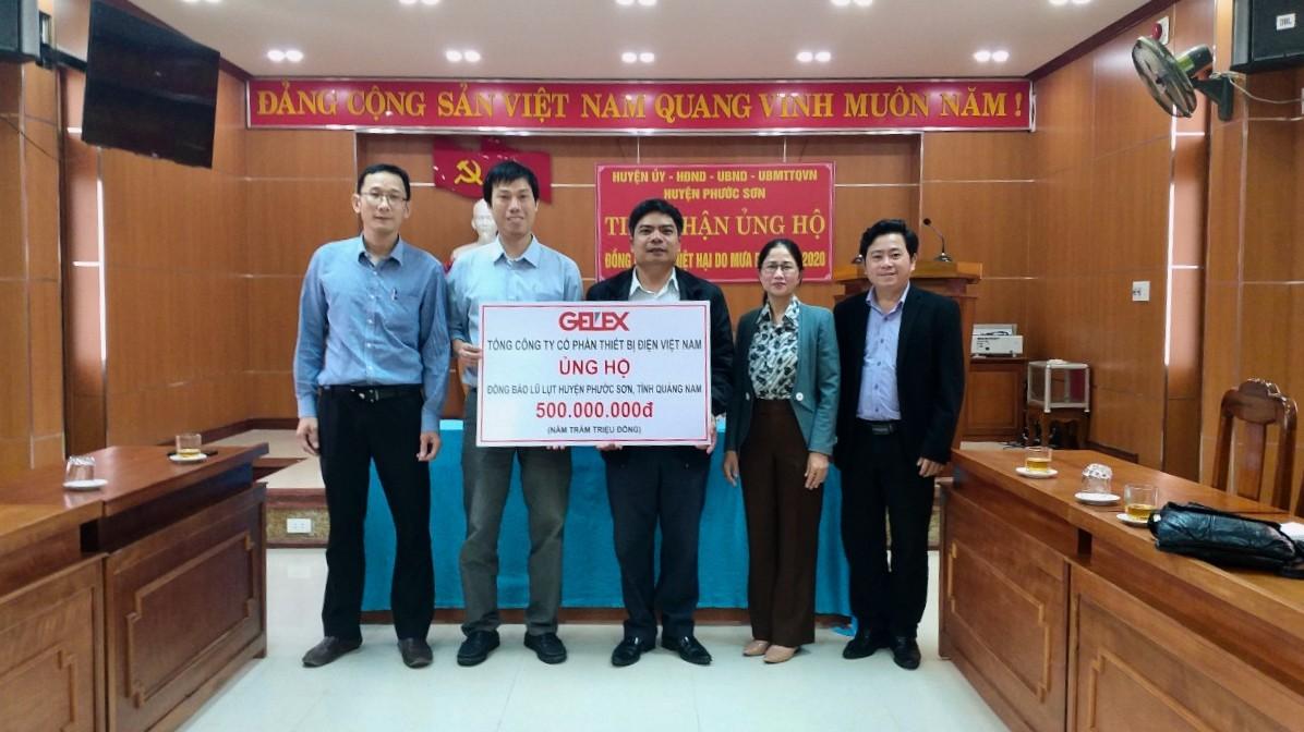 Gelex tiếp tục hỗ trợ người dân vùng lũ tại Quảng Nam 1