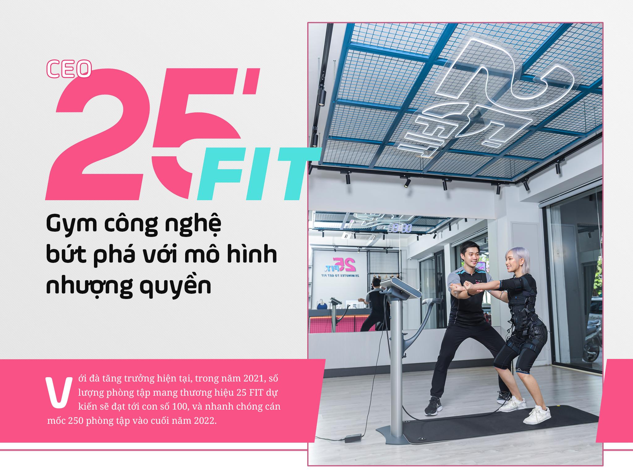 CEO 25 FIT: Gym công nghệ bứt phá với mô hình nhượng quyền