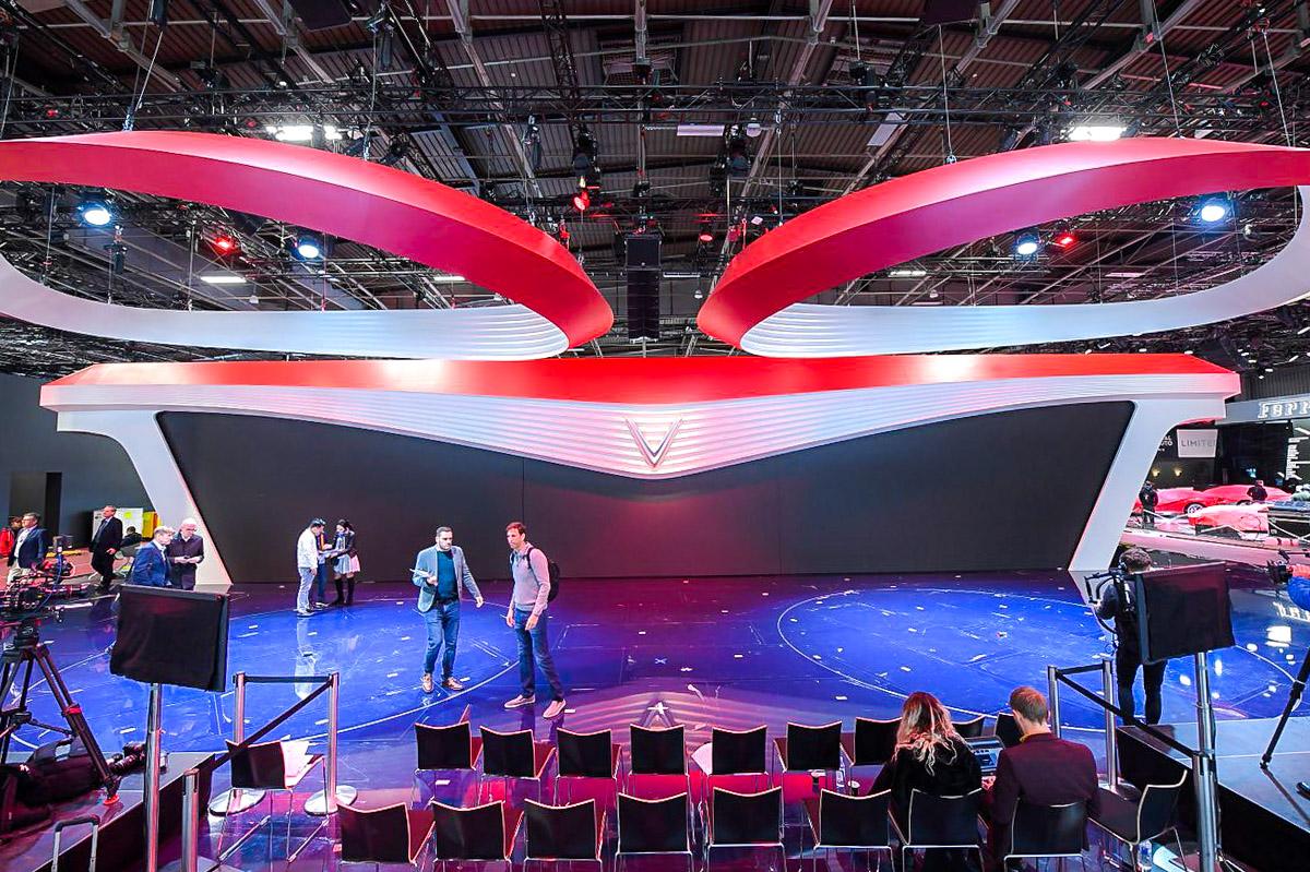 Hé lộ sân khấu VinFast tại Paris Motorshow trước giờ G 1