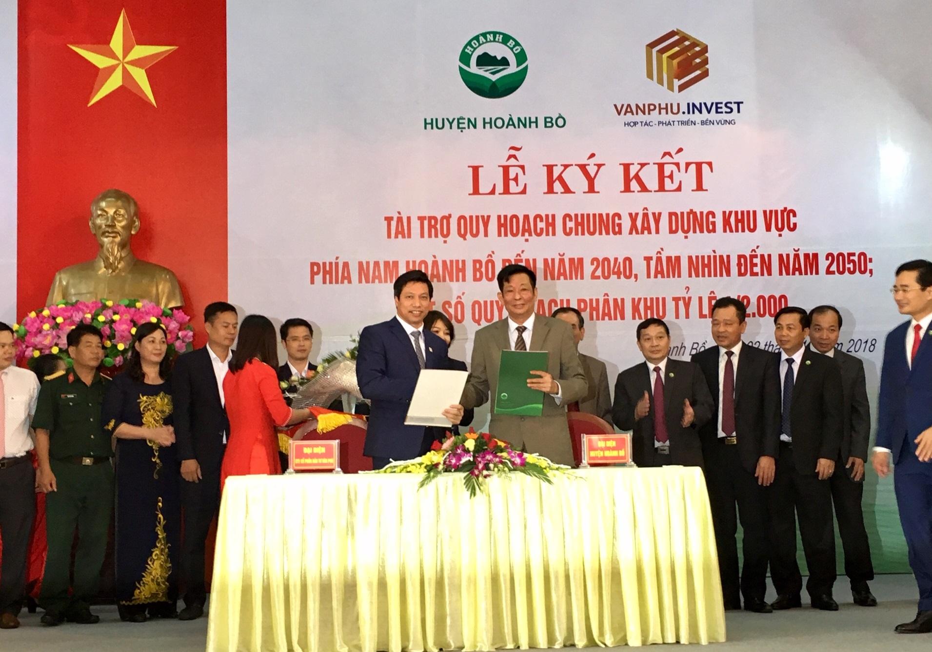 Công ty Văn Phú - Invest tài trợ quy hoạch chung xây dựng khu vực phía nam huyện Hoành Bồ, Quảng Ninh