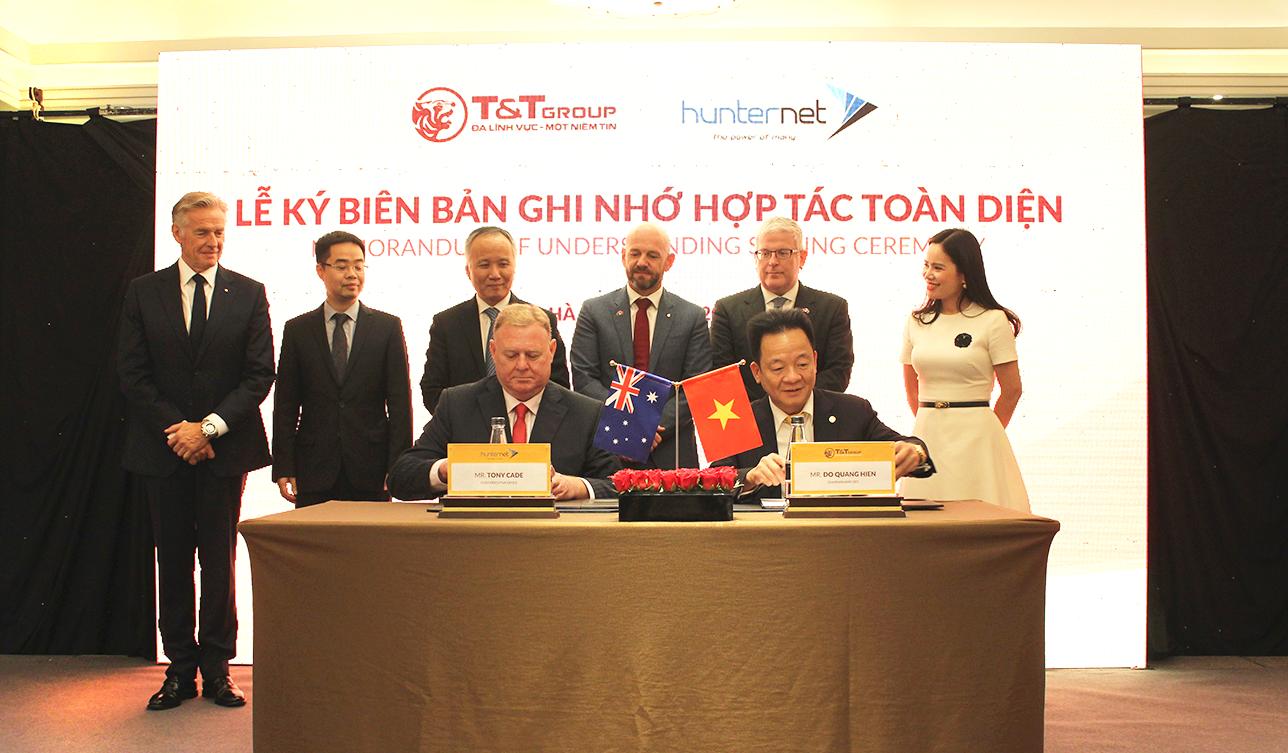 T&T Group ký kết biên bản ghi nhớ hợp tác toàn diện với Hiệp hội DN Hunternet Úc