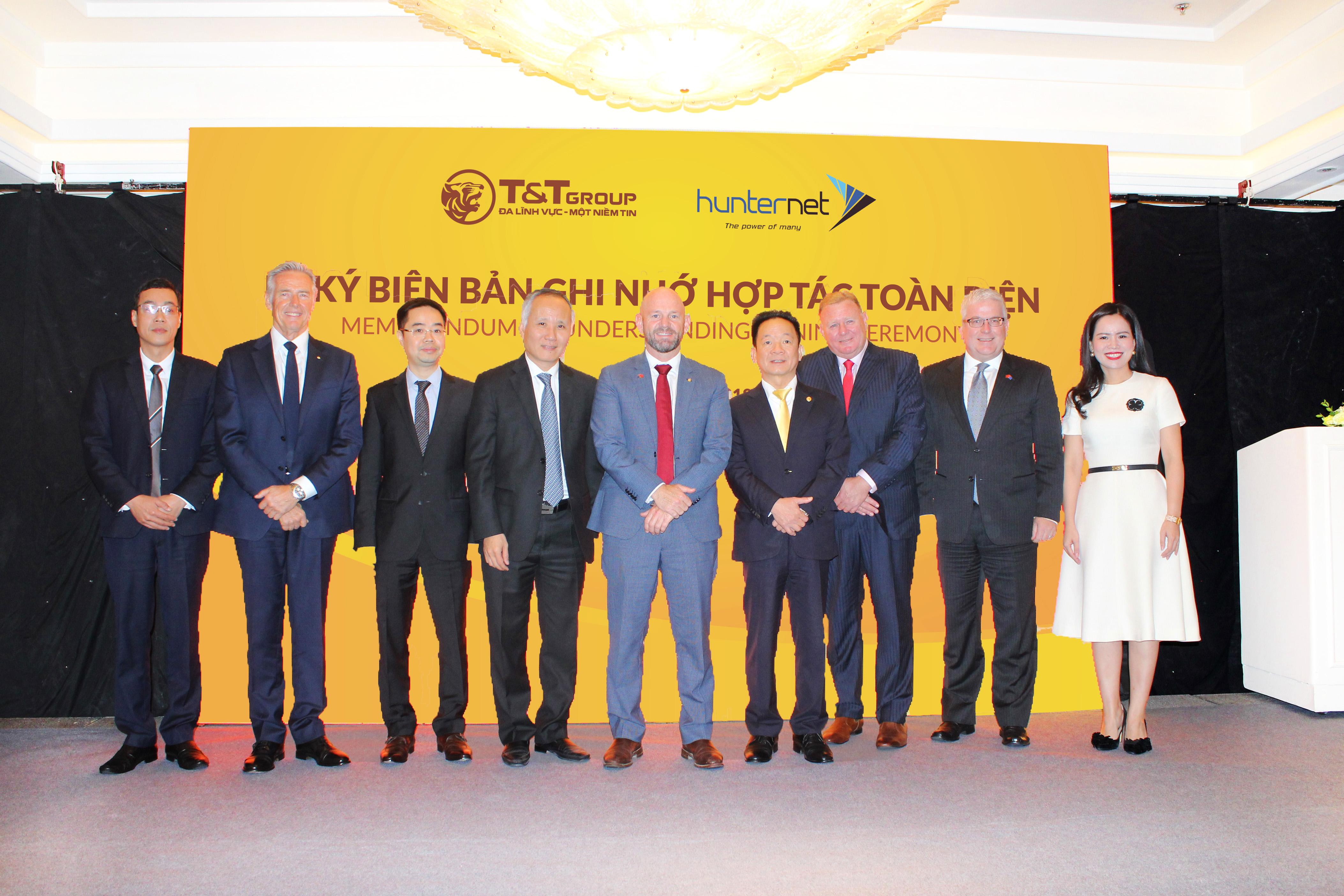 T&T Group hợp tác toàn diện với Hiệp hội doanh nghiệp HunterNet Úc