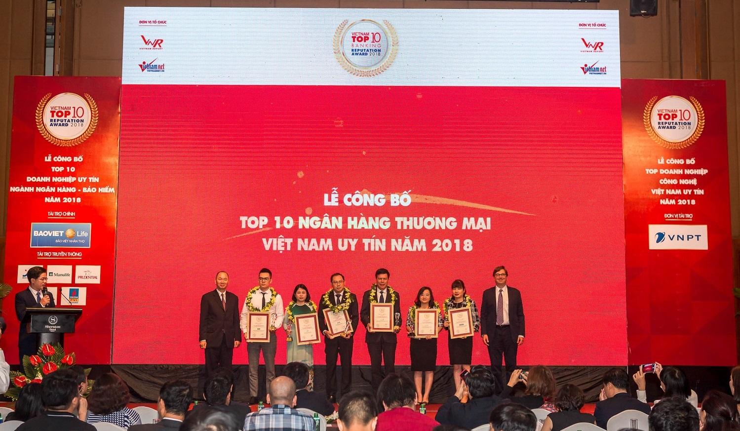 3 năm liên tiếp, SHB khẳng định vị thế vững chắc trong top 10 ngân hàng Việt Nam uy tín