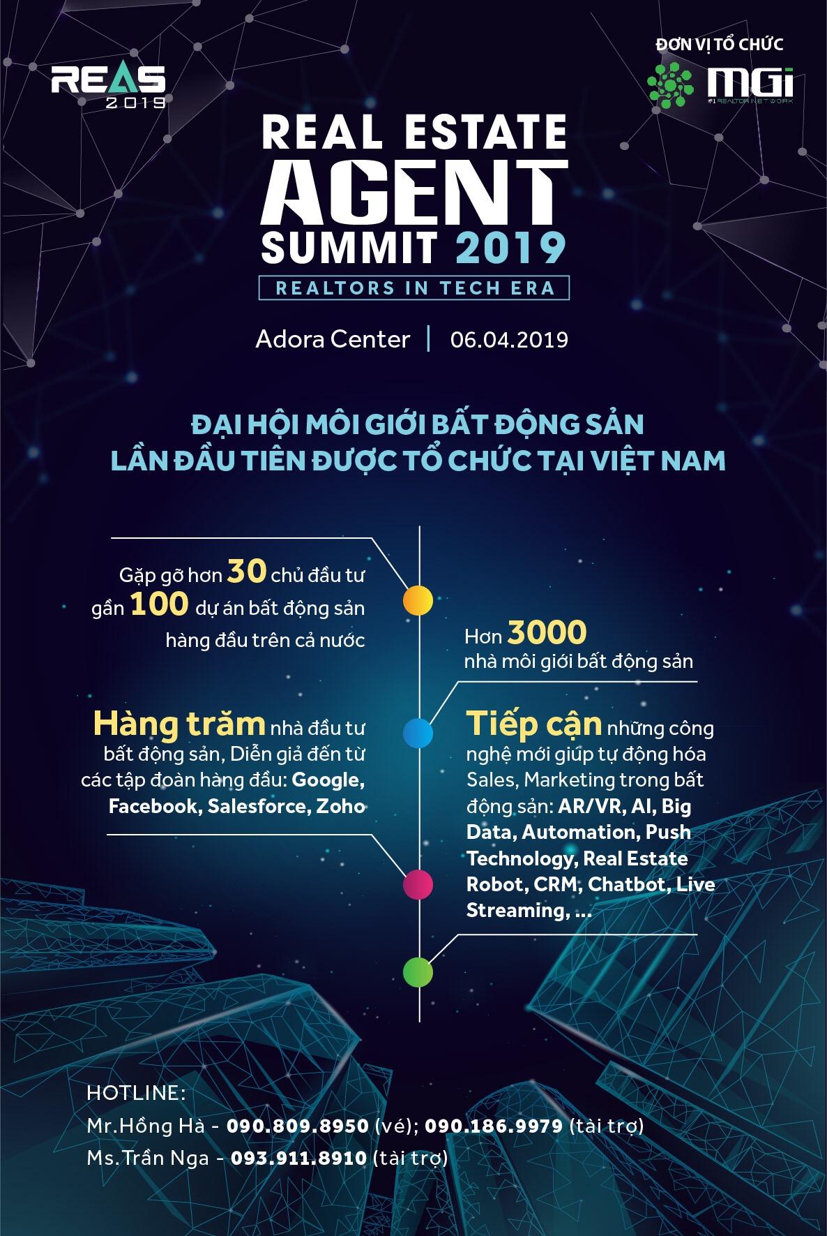 Real Estate Agent Summit 2019 - Làm chủ 'luồng gió' công nghệ mới trong kinh doanh bất động sản thời đại 4.0