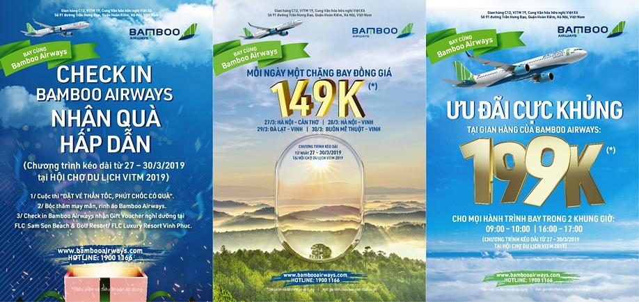 Cơ hội mua vé máy bay với giá từ 149.000 VND của Bamboo Airways