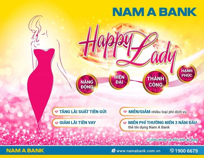 Nam A Bank triển khai gói ưu đãi riêng cho khách hàng nữ