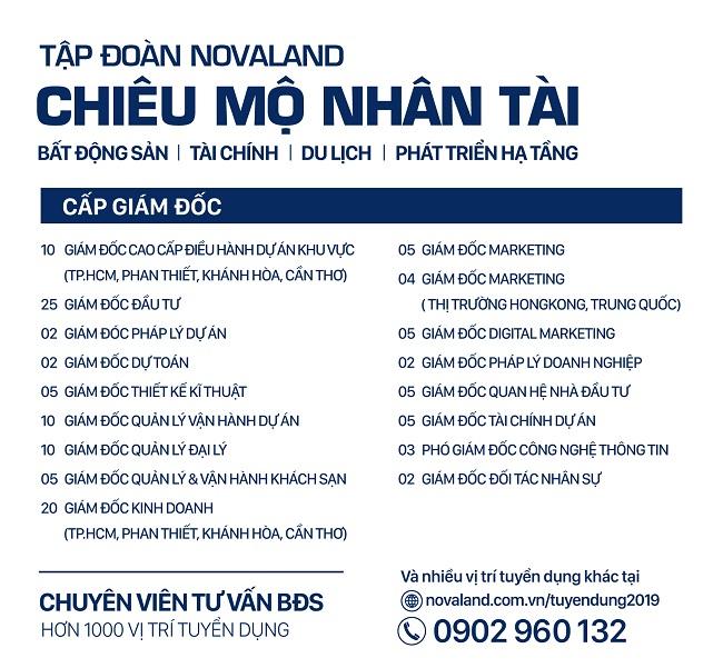 Novaland chủ động tìm kiếm nhân sự bất động sản du lịch cấp cao 1