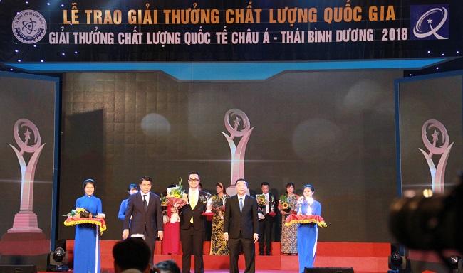 C.P. Việt Nam đạt hai giải thưởng chất lượng quốc gia Việt Nam năm 2018