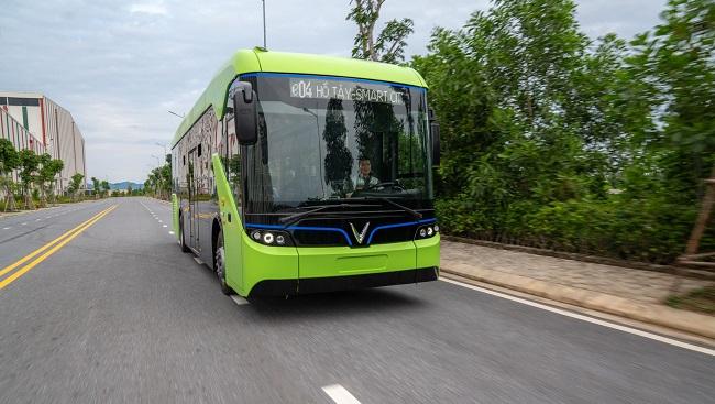 VinFast chạy thử nghiệm mẫu xe buýt điện đầu tiên