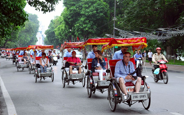 Xe lôi Châu Đốc, An Giang tạo điểm nhấn ấn tượng cho du khách