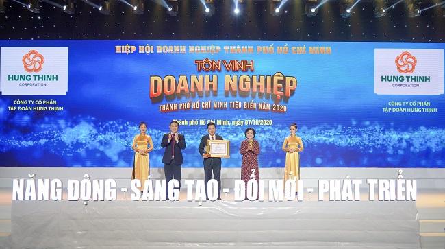 Hưng Thịnh thắng lớn loạt giải doanh nghiệp, doanh nhân TP.HCM tiêu biểu năm 2020