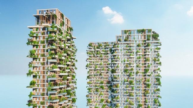 Dự án căn hộ có 400 khu vườn trên cao tại Ecopark 1