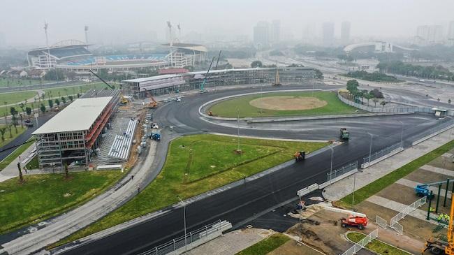 Toàn cảnh đường đua F1 Hà Nội trong giai đoạn hoàn thiện 2