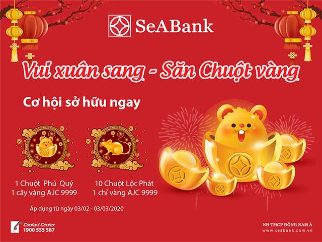 Dùng ngân hàng điện tử SeABank 'Vui xuân sang, săn chuột vàng'