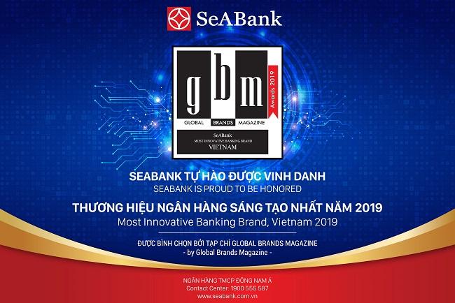 SeABank nhận giải 'Thương hiệu ngân hàng sáng tạo nhất năm 2019'