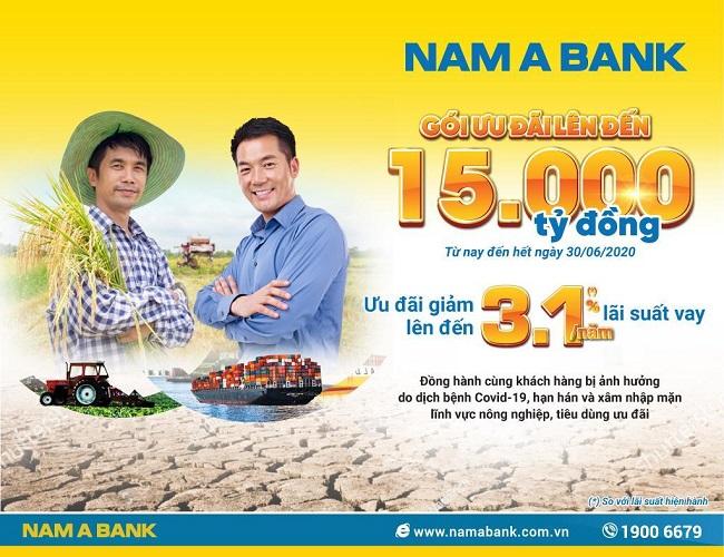 Nam A Bank tung gói vay ưu đãi 15.000 tỷ đồng