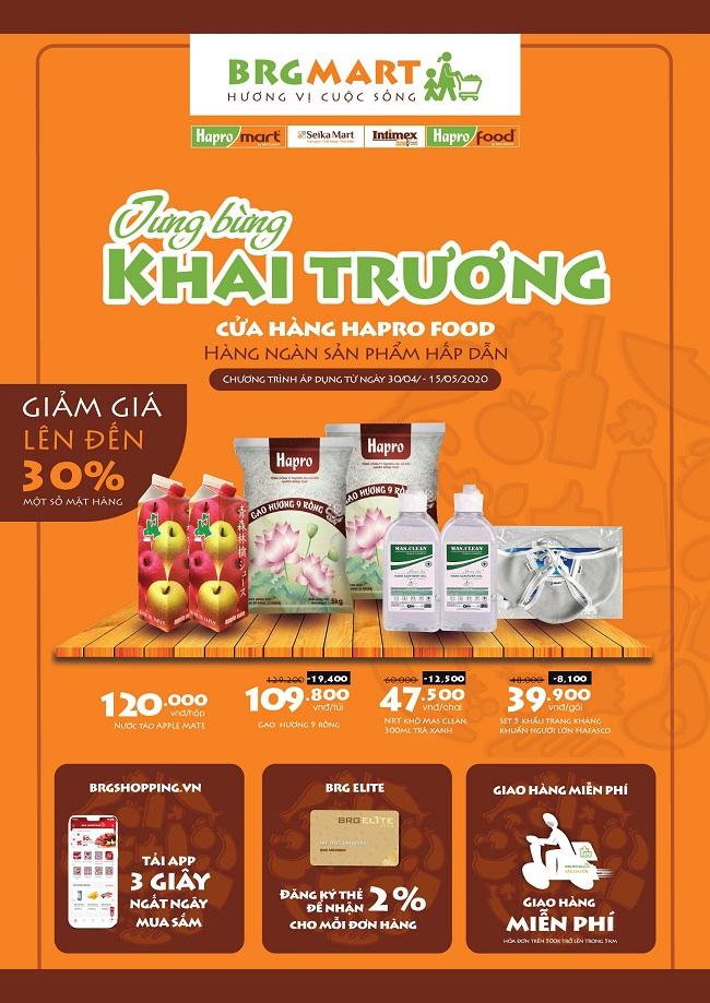 BRG mở thêm 9 cửa hàng bán lẻ Hapro Food và ra mắt ứng dụng BRG Shopping 2