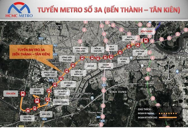 Trung tâm hành chính Tây Sài Gòn và cơ hội từ tuyến Metro 3A 1