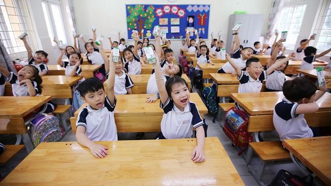 Hơn 1 triệu trẻ được thụ hưởng Sữa học đường trên toàn địa bàn TP. Hà Nội 2