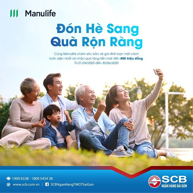 """SCB và Manulife kết hợp tung chương trình """"Đón hè sang – Quà rộn ràng"""""""
