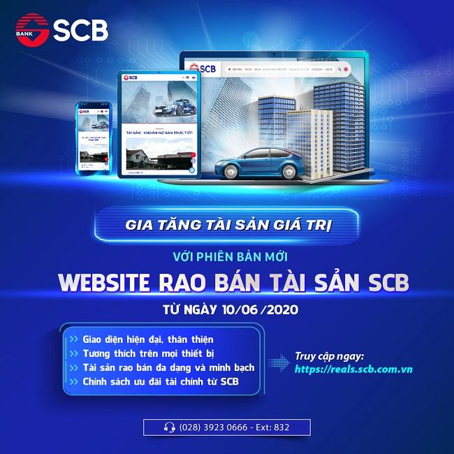 SCB ra mắt phiên bản mới của website rao bán tài sản