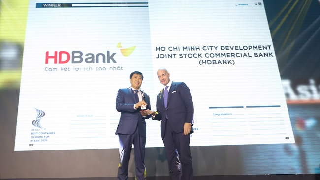 HDBank tiếp tục là nơi làm việc tốt nhất châu Á