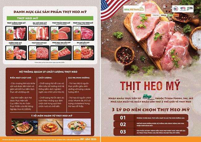 BRG Retail trực tiếp nhập khẩu và triển khai 'Tuần lễ thịt heo Mỹ' 2