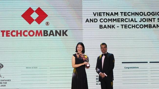 Techcombank lọt danh sách 'Nơi làm việc tốt nhất châu Á'