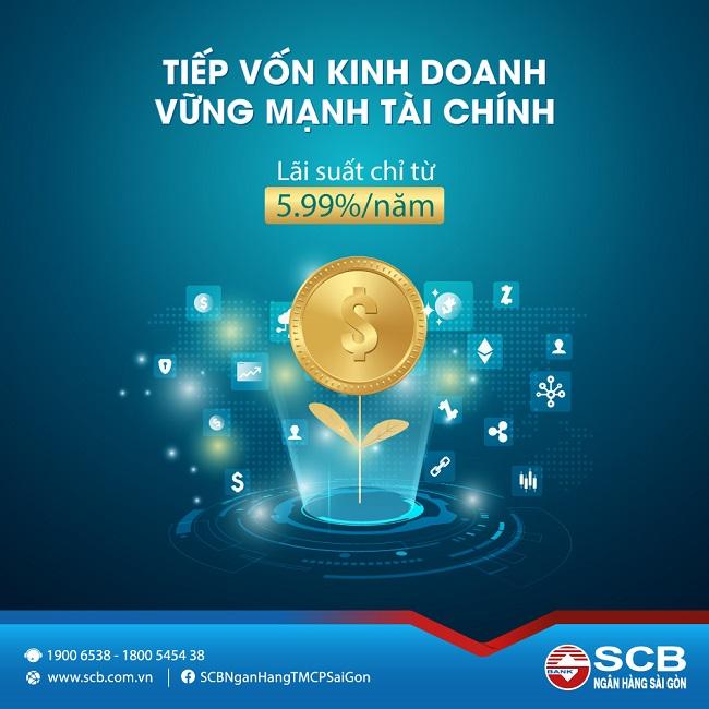 SCB tung chương trình cho vay 'Tiếp vốn kinh doanh - Vững mạnh tài chính'
